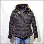 Kurtka damska zimowa XL pikowana czarna zarka