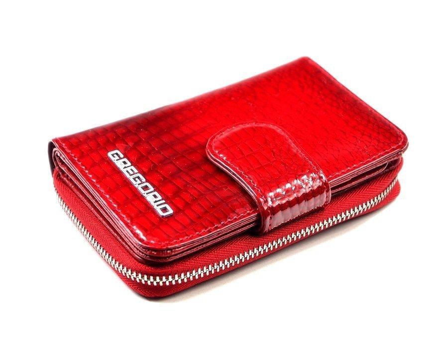 c78736f5ce0d0 Portfel damski GREGORIO skóra czerwony lakier funkcjonalny