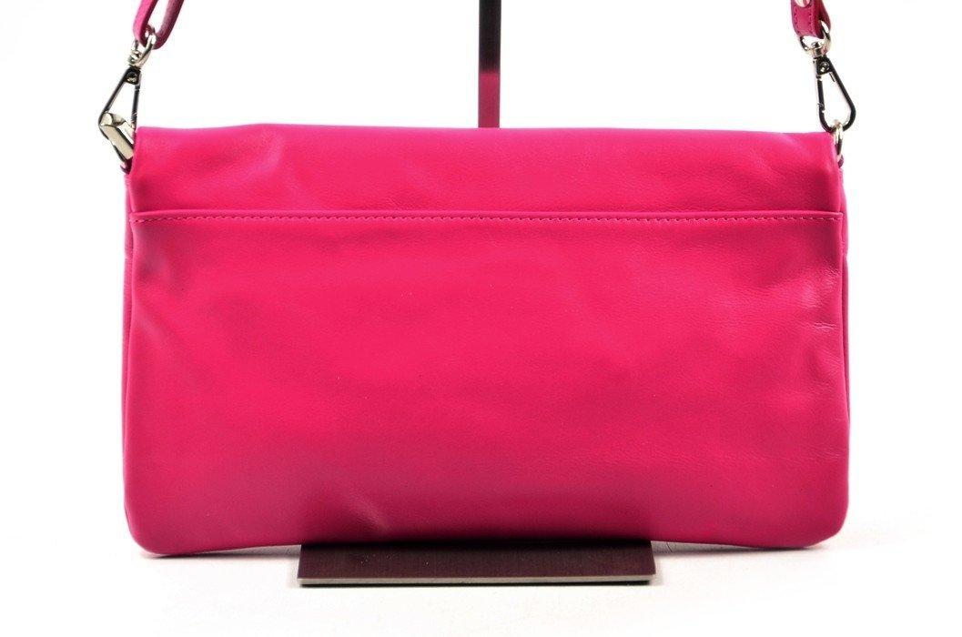 9dffb258520b7 TOREBKA WŁOSKA SKÓRA różowa fuksja kopertówka wizytowa
