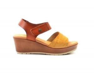 Sandały 38 skóra VERANO 7538 beż brąz hiszpańskie