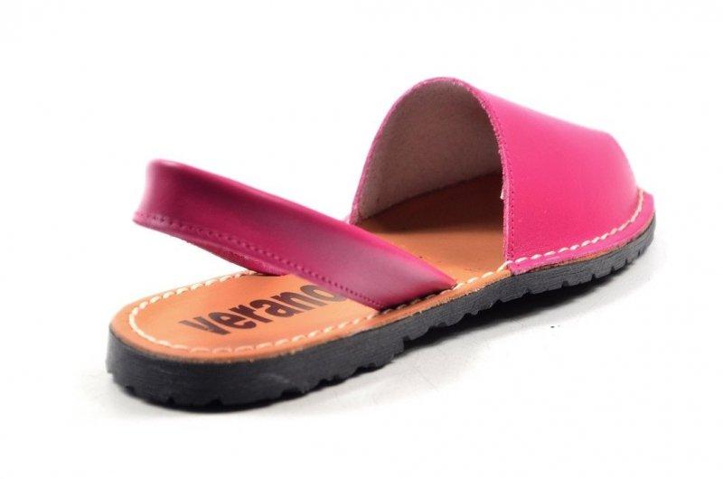Sandały 35 skórzane VERANO 201 różowe fuksja klapki