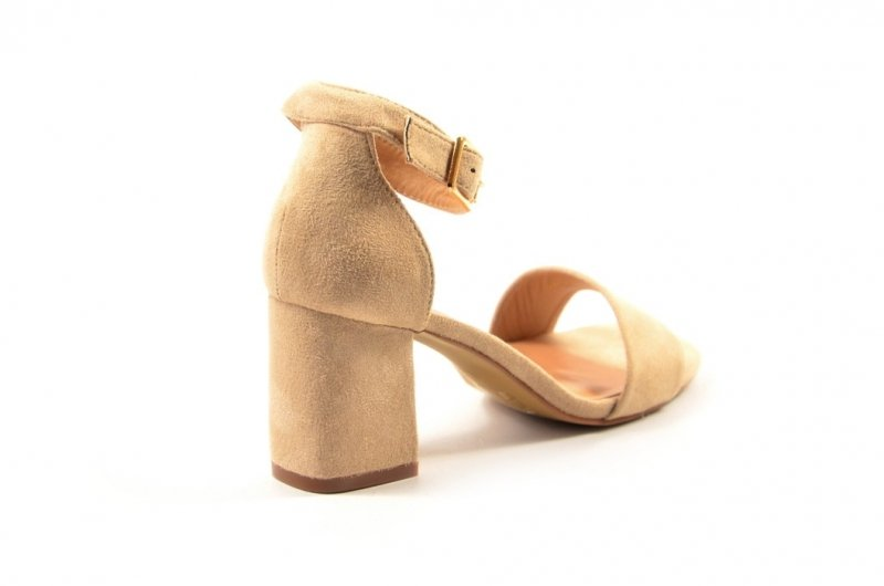 Sandałki damskie 40 słupek VINCEZA 17058 beżowe