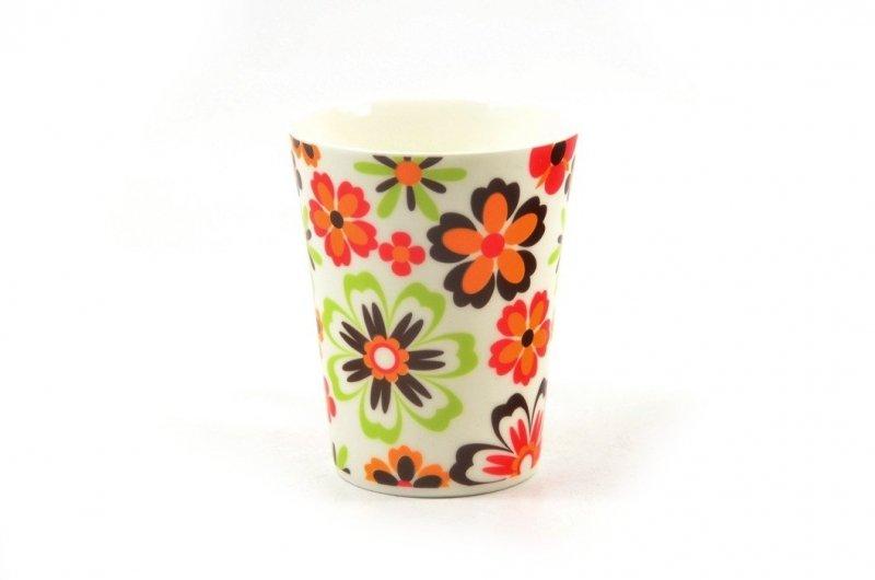 Kubek ceramiczny FLORENTYNA 360 ml kwiatki na prezent