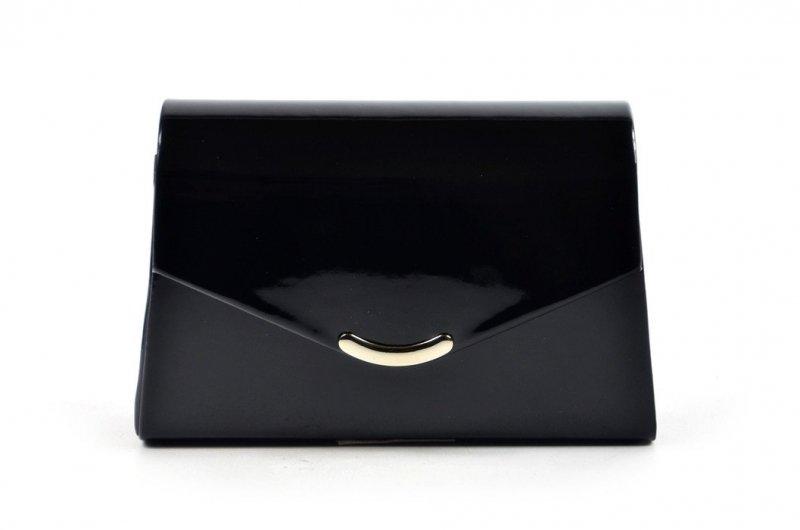 TOREBKA kopertówka SAPRI wizytowa czarna lakier
