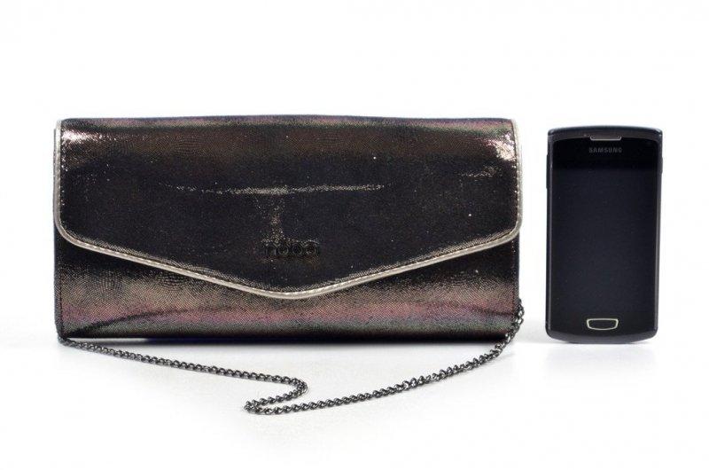TOREBKA damska NOBO BAG 3751 szara czarna metaliczna kopertówka
