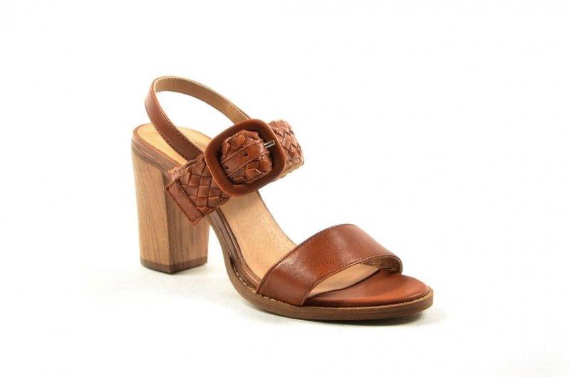 Sandałki 36 słupek ROBSON skóra 9313 brązowe