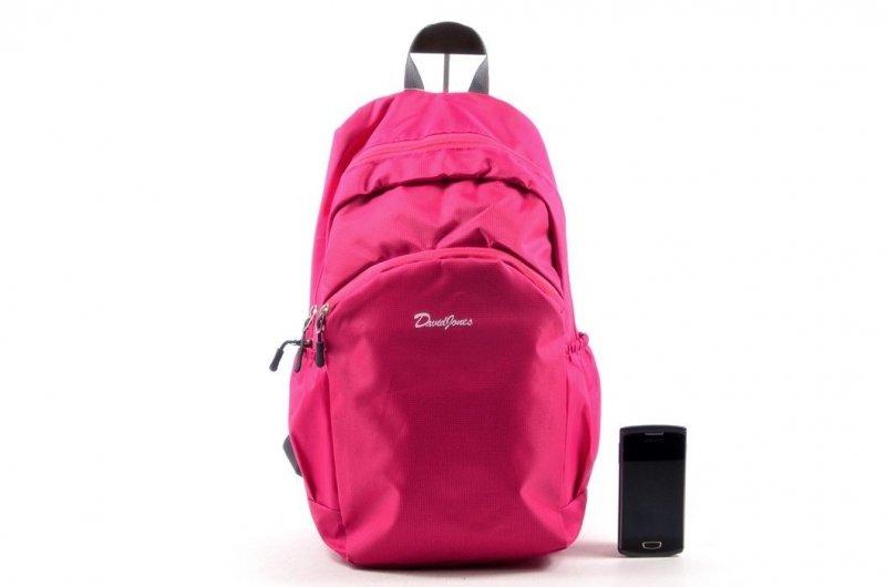 Plecak damski DAVID JONES 5210 ciemny różowy fuksja
