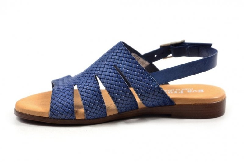 Sandały 36 EVA FRUTOS 9106 niebieskie hiszpańskie