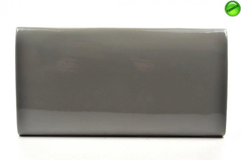 TOREBKA kopertówka wizytowa szara lakier
