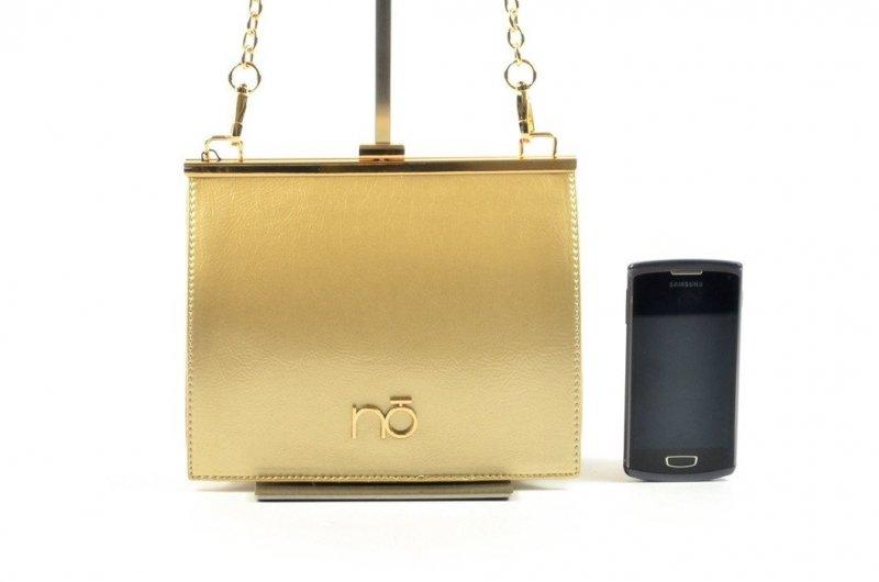 TOREBKA damska NOBO BAG 3140 złota wizytowa kopertówka