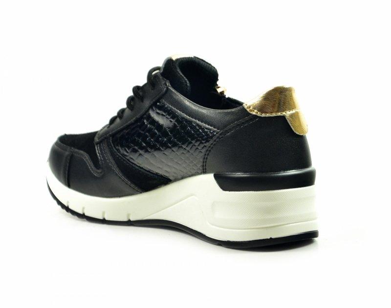 Półbuty 38 sneakersy FILIPPO 2052 skóra czarne