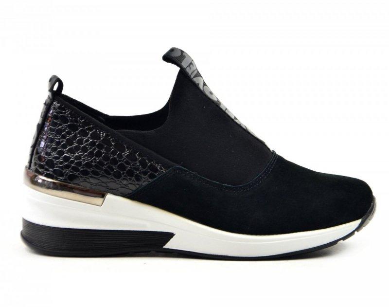 Półbuty 40 sneakersy FILIPPO 1689 skóra czarne