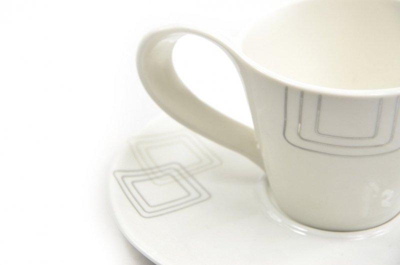 Filiżanka porcelanowa kwadraty DUO prezent