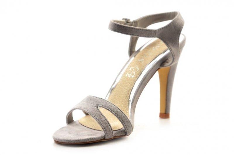 Sandałki szpilki 40 VINCEZA jasne szare 2851