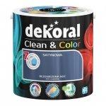 Dekoral CLEAN & COLOR 2,5L Bezgwiezdna Noc satynowa farba lateksowa