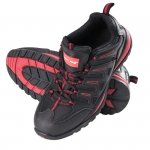 LAHTI PRO Pół-buty ochronne skóra tkanina 44 metal męskie robocze czarno-czerwone
