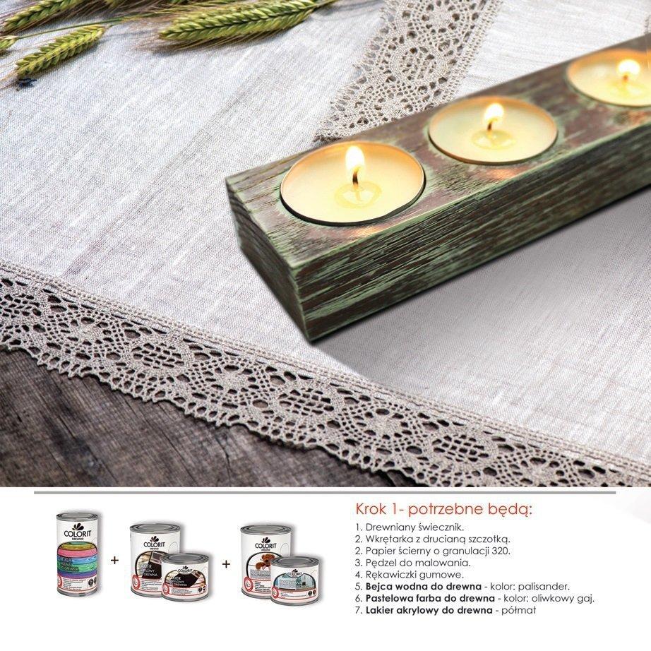 Modernistyczne Colorit Pastelowa Drewna 2,5l ŚNIEŻNA BIEL akrylowa emalia do MB25