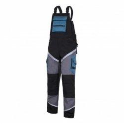 LAHTI PRO Spodnie robocze ogrodniczki ochronne M odblaski