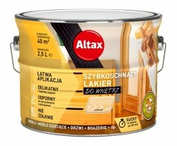 Altax lakier szybkoschnący drewna PÓŁMAT 2,5L bezbarwny do wnętrz