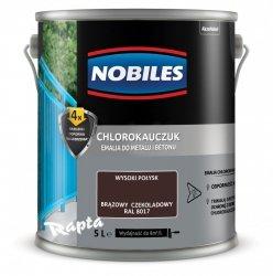Chlorokauczuk 5L BRĄZOWY CZEKOLADOWY RAL 8017 Nobiles farba emalia