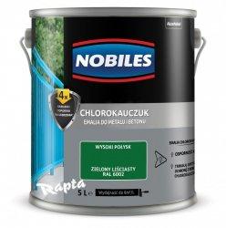 Chlorokauczuk 5L ZIELONY LIŚCIASTY RAL 6002 Nobiles farba emalia