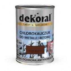Dekoral Chlorokauczuk 5L BRĄZOWY MAHONIOWY RAL8016 farba emalia