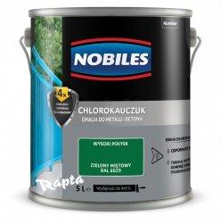 Chlorokauczuk 5L ZIELONY MIĘTOWY RAL 6029 Nobiles farba emalia