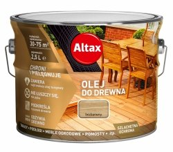 Altax olej do drewna 2,5L BEZBARWNY UV tarasów