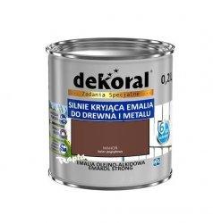 Dekoral Olejna 0,2L MAHOŃ emakol alkidowa emalia strong