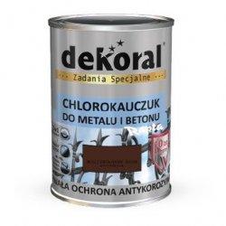 Dekoral Chlorokauczuk 0,9L BRĄZ CZEKOLADOWY ŚREDNI RAL8017 farba emalia
