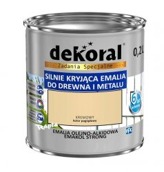Dekoral Olejna 0,2L KREMOWY emakol alkidowa emalia strong