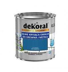 Dekoral Olejna 0,2L LAZUROWY emakol alkidowa emalia strong