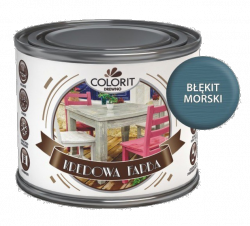Colorit Kredowa Farba  0,75L BŁĘKIT MORSKI mebli farba do