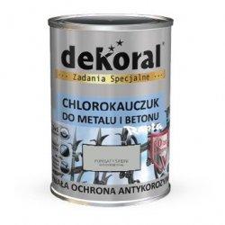 Dekoral Chlorokauczuk 0,9L POPIELATY ŚREDNI RAL7038 farba emalia