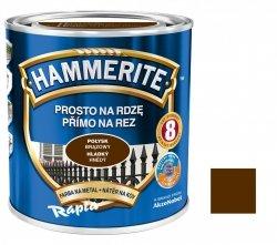 Hammerite Na Rdzę 0,7L BRĄZOWY POŁYSK hamerite farba