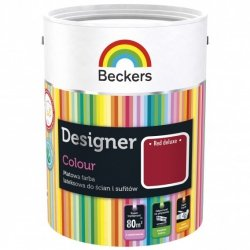 Beckers 5L RED DELUXE Designer Colour farba lateksowa