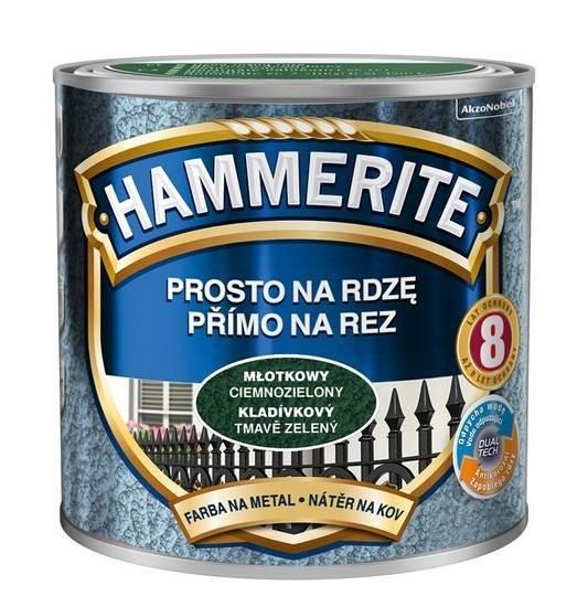 Hammerite Na Rdzę 0,25L CIEMNOZIELONY MŁOTKOWY hamerite farba