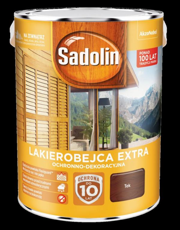 Sadolin Extra lakierobejca 5L TIK TEK 3 drewna