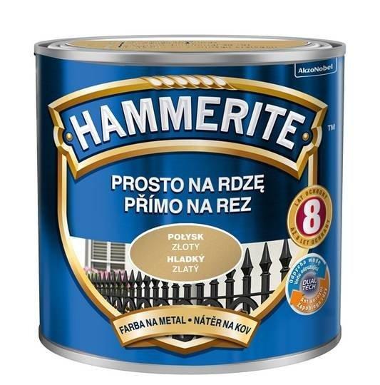 Hammerite Na Rdzę 0,25L ZŁOTY POŁYSK hamerite farba
