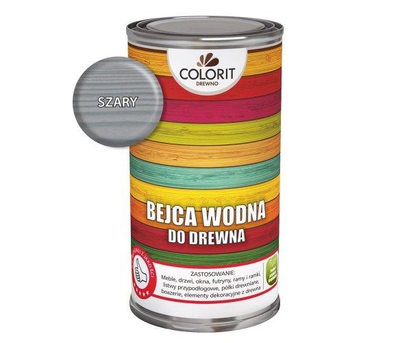 Colorit Bejca Wodna Do Drewna 0,5L SZARY 500ml do