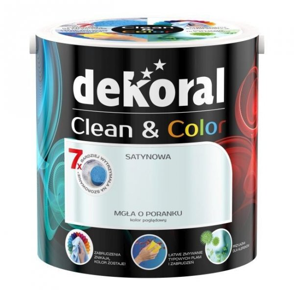 Dekoral CLEAN COLOR 2,5L Mgła O Poranku satynowa farba lateksowa