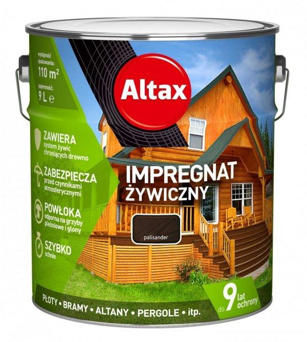 Altax Impregnat 9L PALISANDER Żywiczny Drewna Szybkoschnący