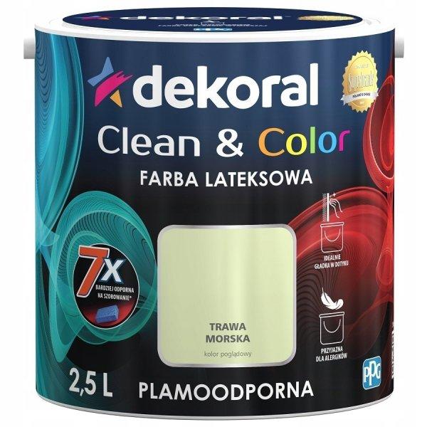 Dekoral CLEAN COLOR 2,5L Trawa Morska satynowa farba lateksowa
