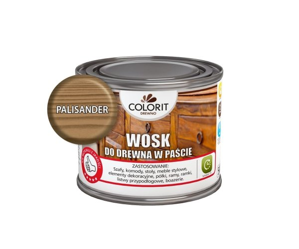 Colorit Wosk Drewna Pasta 0,5L PALISANDER 500ml Kredowa do