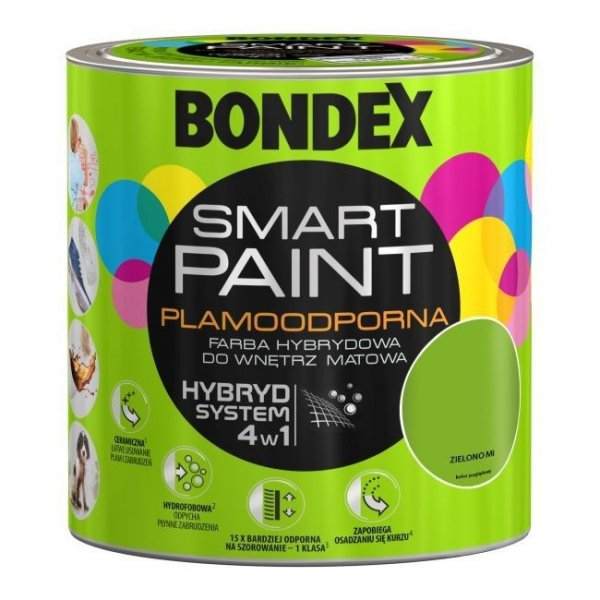 Bondex Smart Paint 2,5L ZIELONO MI