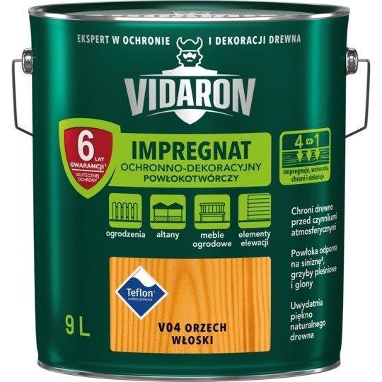 Vidaron Impregnat 9L V04 Orzech Włoski do drewna powłokotwórczy