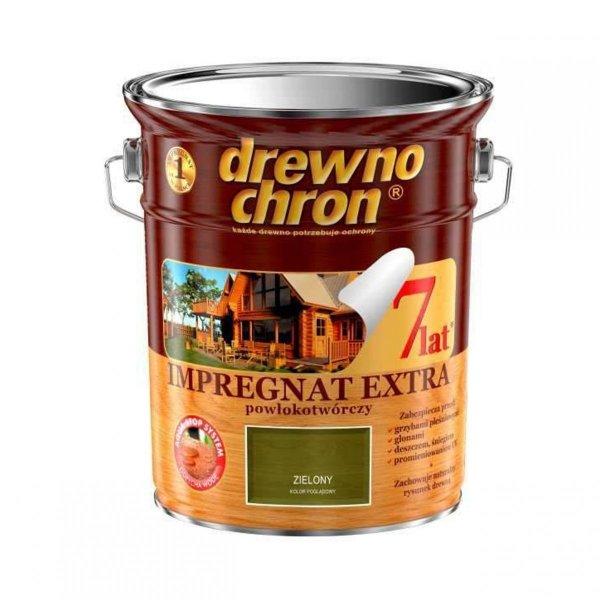 Drewnochron ZIELONY 4,5L Impregnat Extra drewna do powłokotwórczy