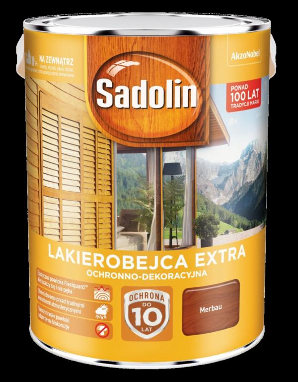 Sadolin Extra lakierobejca 5L MERBAU 40 drewna
