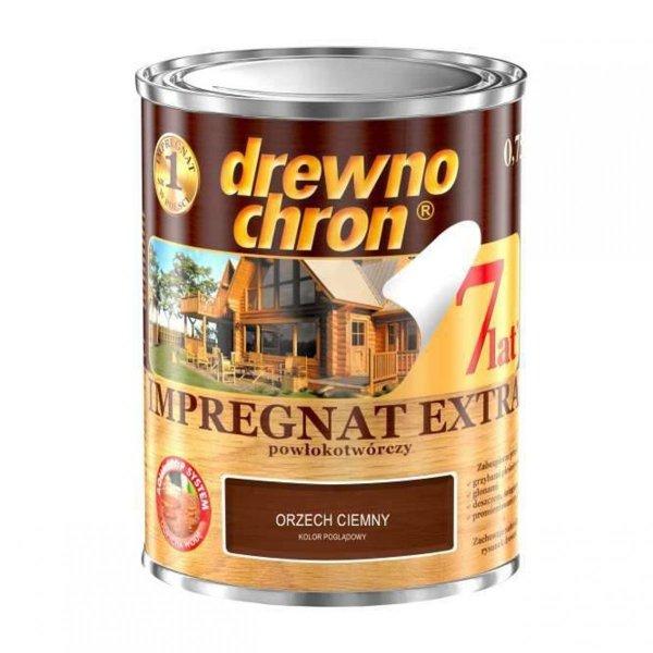 Drewnochron ORZECH CIEMNY 0,75L Impregnat Extra drewna do powłokotwórczy