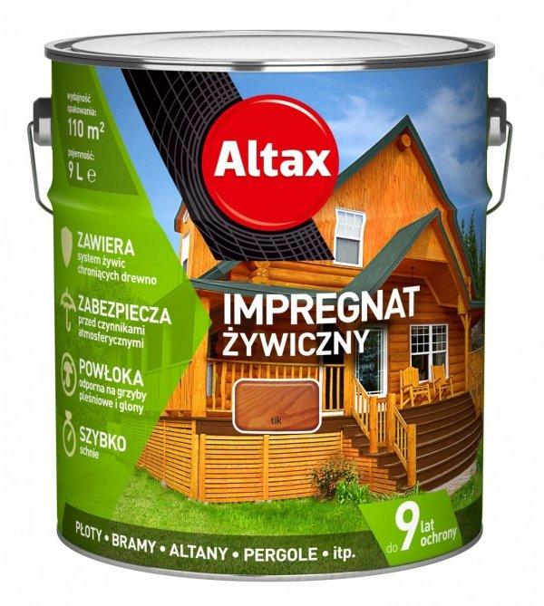 Altax Impregnat 9L TIK Żywiczny Drewna Szybkoschnący